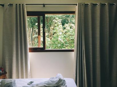 Vista do quarto.